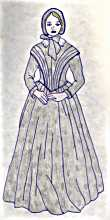 Wedding dress: Mary Brownfield, 1842