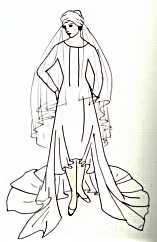 Wedding dress: Vionnet Couture, 1926