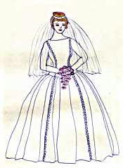 Wedding dress: Eileen Bessant, 1965
