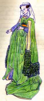 Wedding dress: Giovanna Cenami, 1434